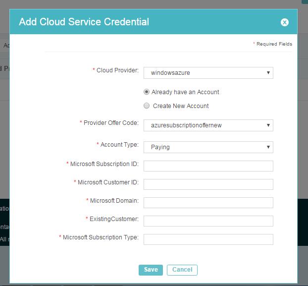 Add Azure CSP Cloud Service Credentials | Jamcracker Inc